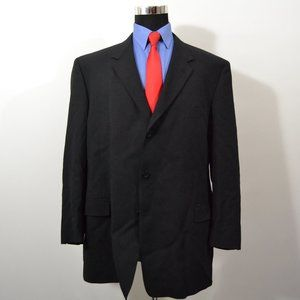 Kenneth Cole 48R Sport Coat Blazer Suit Jacket Bla